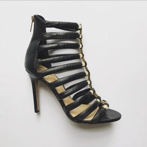 """Vince Camuto Reese Caged Heels 4"""" Zip Back"""